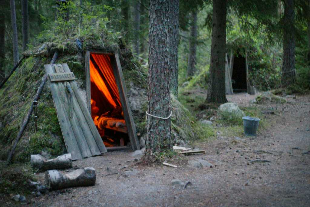A charcoal miners hut in the forest
